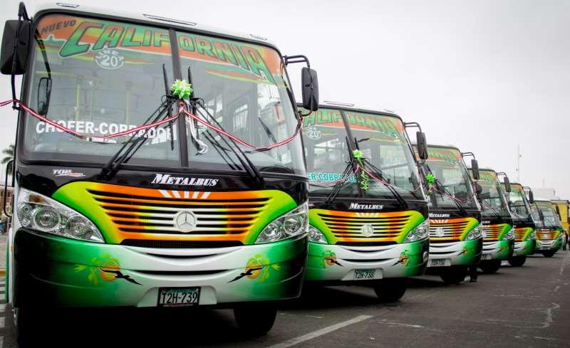 flota de buses urbanos