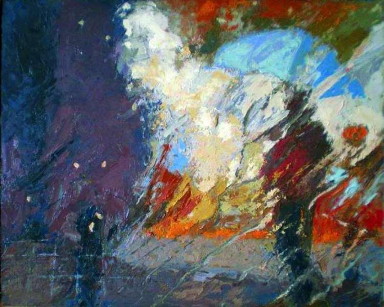 """: """"Silueta bajo la lluvia"""" 2009  © Magi Batet Balcells"""