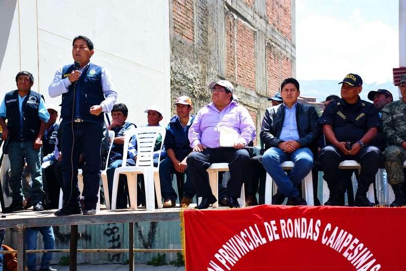 Asamblea pública convocada por rondas campesinas contó con la participación de principales autoridades provinciales