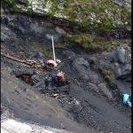mina de carbón derrumbada