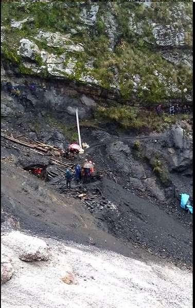 Santiago de Chuco: Derrumbe de una mina informal de carbón deja un muerto y tres heridos