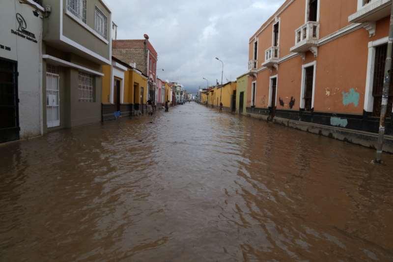 Calles inundadas de Trujillo