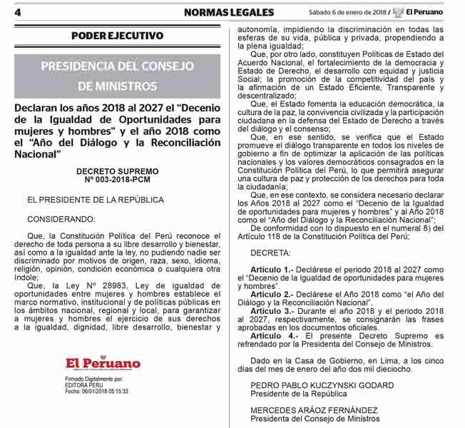 Publicacion Oficial – Diario Oficial El Peruano