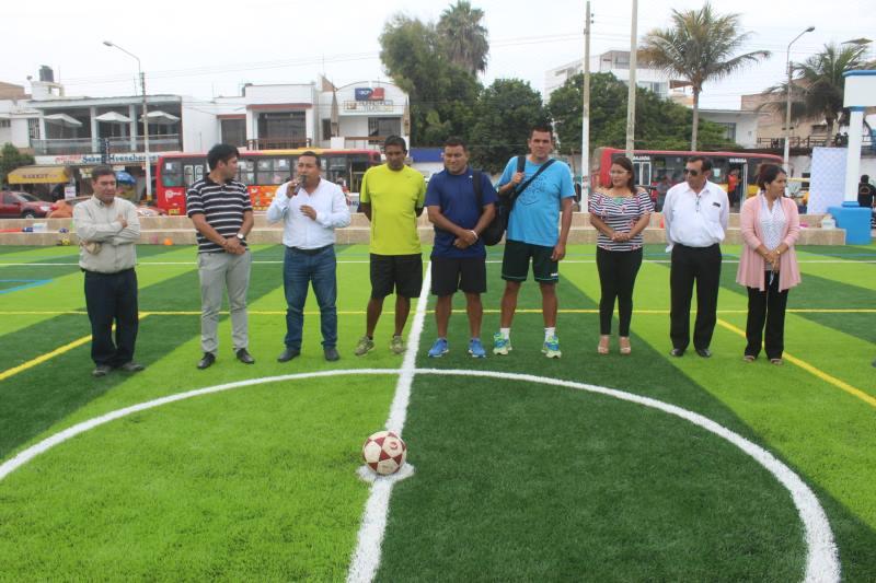Inauguran remodelado complejo deportivo en Huanchaco