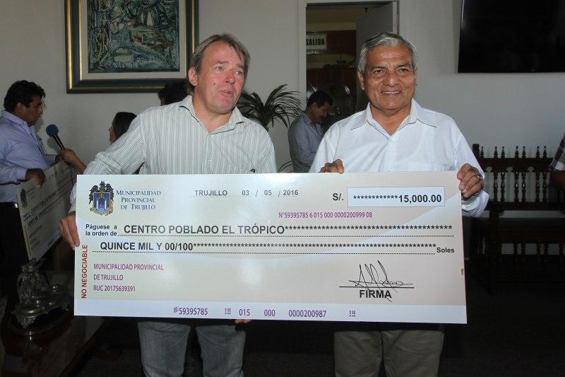 Municipio aprueba transferencia por 874 mil soles para centros poblados